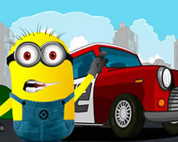 Minion Racing Car Puzzle
